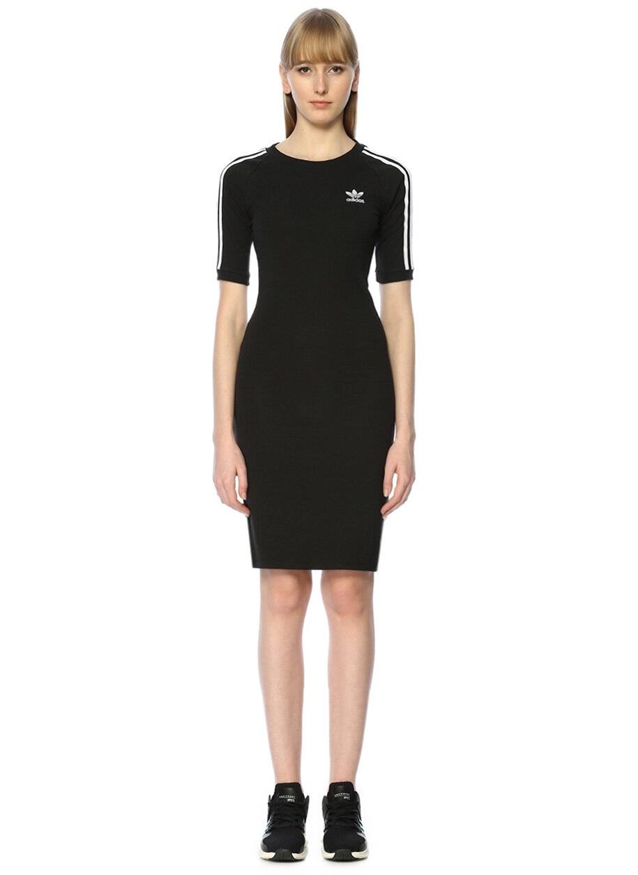 c528432d60be4 Adidas Siyah Mini Elbise   ElbiseBul